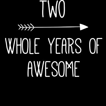 Birthday 2 Whole Years Of Awesome by with-care