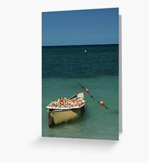 Sea chell boat Greeting Card