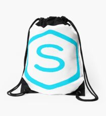 Symmetra Hexagon Symbol Drawstring Bag