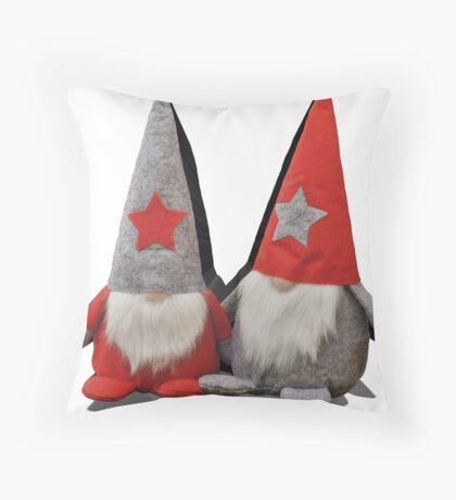 3D Christmas Gnomes Throw Pillow