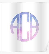 Cotton Candy Monogram Poster
