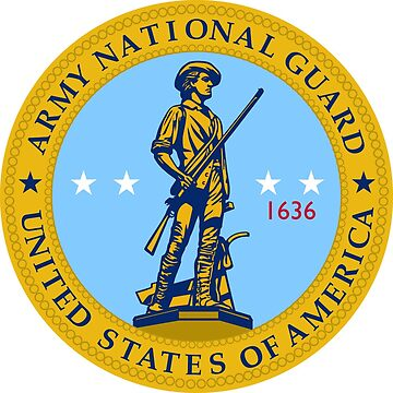 Army National Guard Seal Logo -  Vibrant Color by branpurn