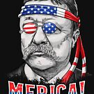 Theodore Roosevelt Merica 4th of July T shirt Men President by LiqueGifts