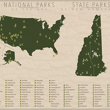 US National Parks - New Hampshire by FinlayMcNevin