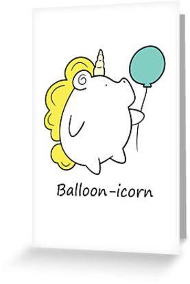 Balloon-icorn (Unicorn With Balloon) by Introvartist
