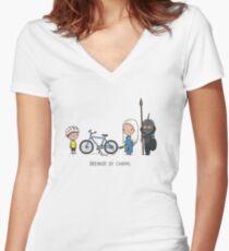 Breaker of chains Women's Fitted V-Neck T-Shirt