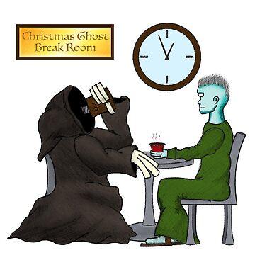 Christmas Ghost Break Room by greenzeta