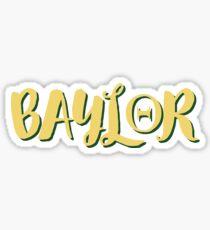 baylor theta Sticker