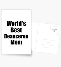 Beauceron Mom Dog Lover World's Best Funny Gift Idea For My Pet Owner Postkarten