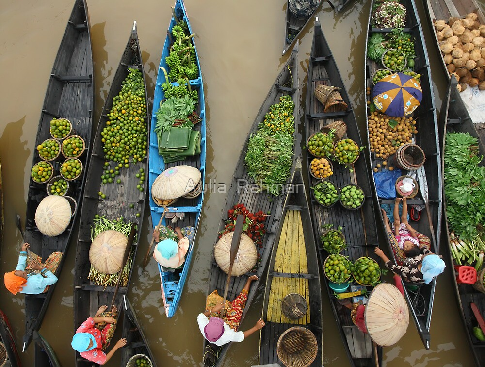 Lokbaintan Floating Market - South Borneo, Indonesia by Aulia  Rahman