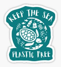 Keep The Sea Plastic Free - Turtle Sticker