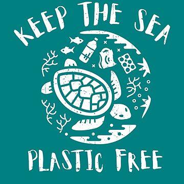 Keep The Sea Plastic Free - Turtle by Bangtees