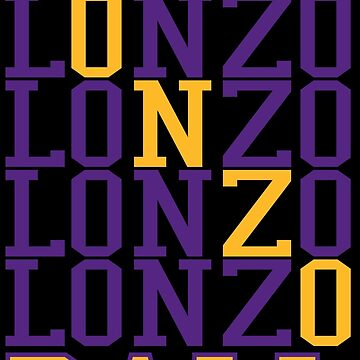 Lonzo Ball Word Art by RatTrapTees