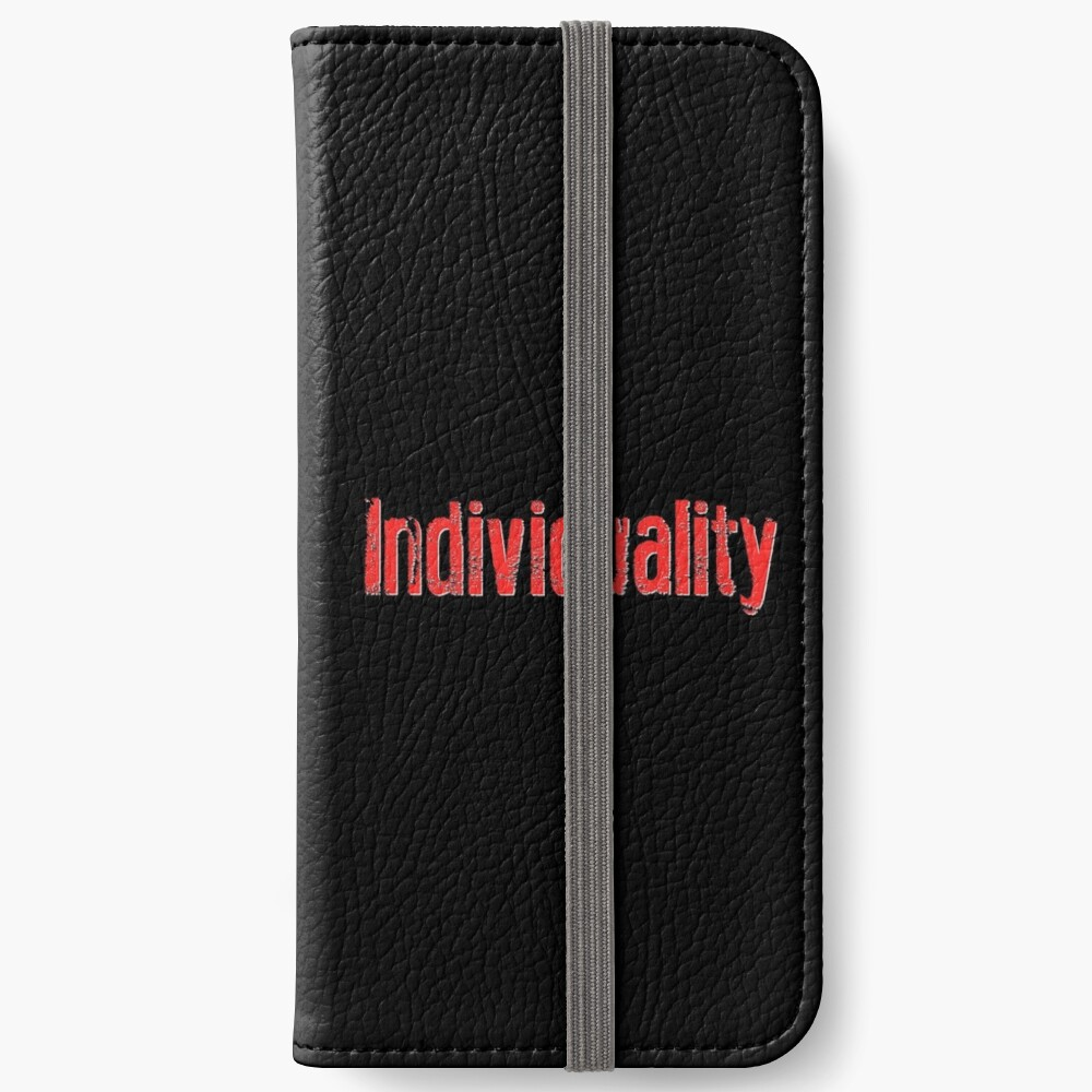 """Individuality"" Text Art iPhone Wallet"