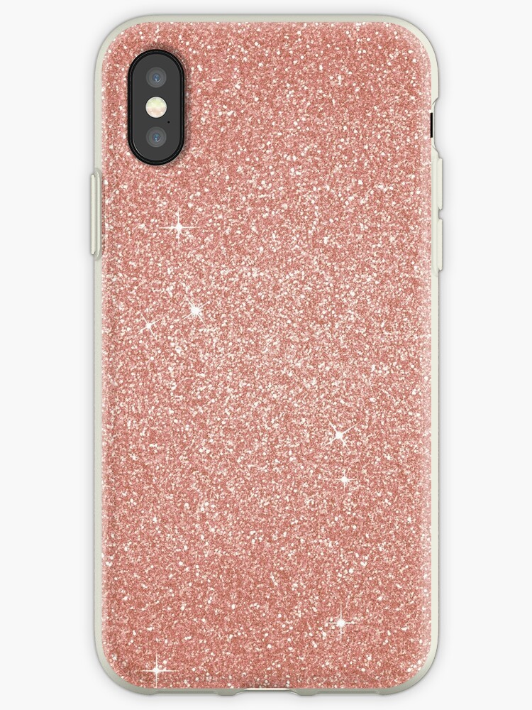 low priced 215a3 ac312 'Pink Rose Gold Sparkly Glitter' iPhone Case by PrettyLovely
