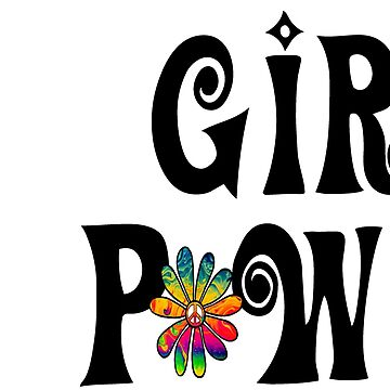 Girl Power Hippie Flower Peace Sign by Swigalicious