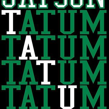 Jayson Tatum Word Art by RatTrapTees