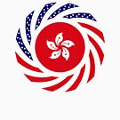Hong Kong American Multinational Patriot Flag Series by Carbon-Fibre Media