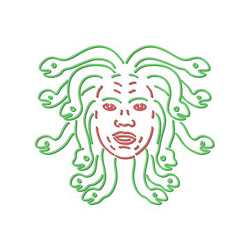 Head of Medusa Neon Sign  by patrimonio