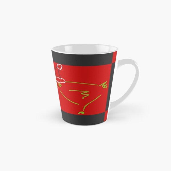Secret Chicken, Secret Santa (checks) Tall Mug