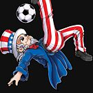 Soccer Uncle Sam T shirt 4th of July Kids Boys American Flag by LiqueGifts