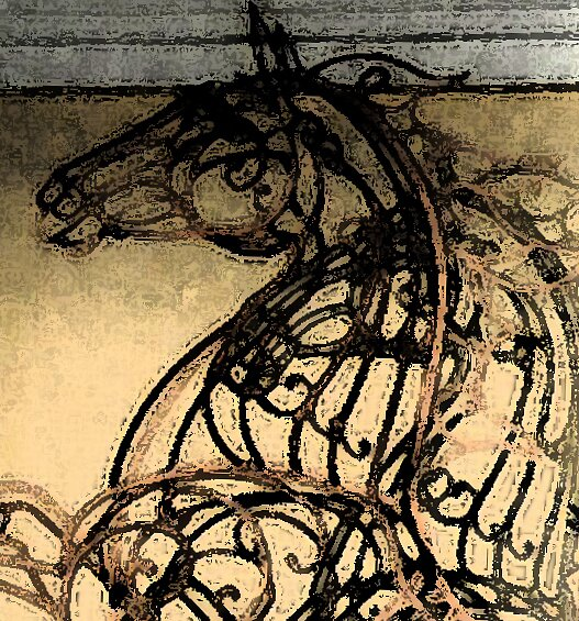 Topiary horse rearing by ElfinYeti
