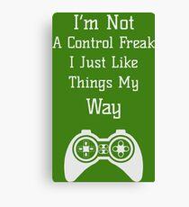 Control Freak Shirt - Funny Control Freak tshirt - Control Freak Boss - Brother - Sister - Mom -Mum - Dad - Teacher Canvas Print