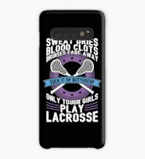 Buttercup Tough Girls Lacrosse - Funny Lacrosse Quotes Gift Hülle & Klebefolie für Samsung Galaxy