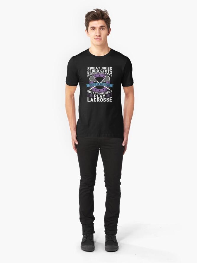 Alternative Ansicht von Buttercup Tough Girls Lacrosse - Funny Lacrosse Quotes Gift Slim Fit T-Shirt