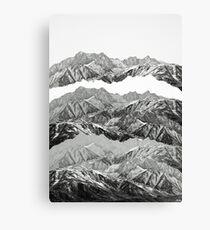 MOUNTAIN MASHUP (MONOCHROME) Canvas Print
