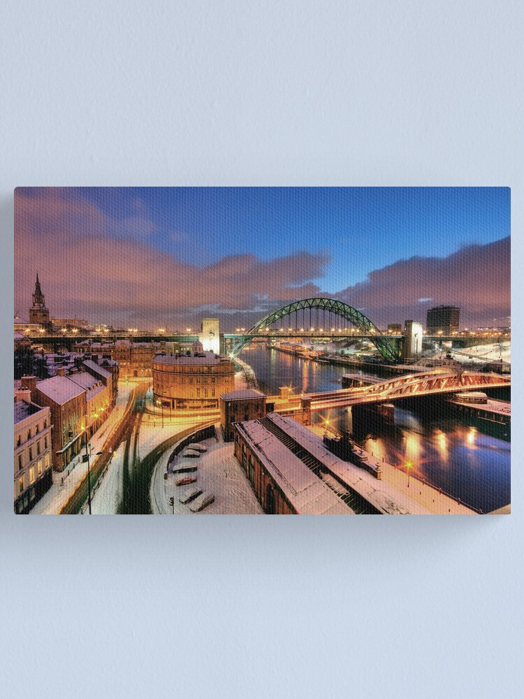 Alternate view of Newcastle in winter Canvas Print