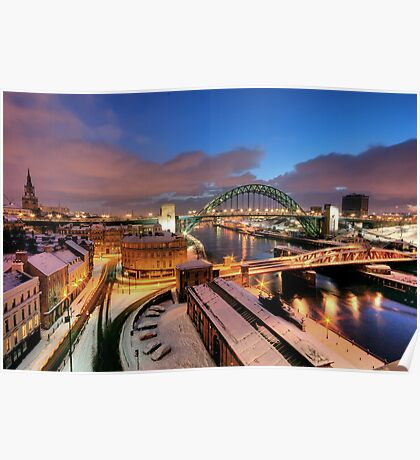 Newcastle in winter Poster