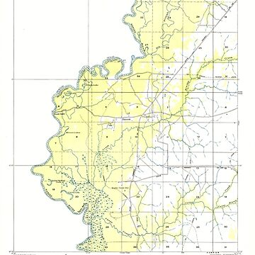 USGS TOPO Map Louisiana LA Bancroft 333622 1949 31680 by wetdryvac