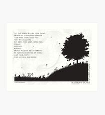 Watership Down Black and White Illustrated Quote Art Print