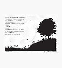Watership Down schwarz und weiß illustrierte Zitat Fotodruck