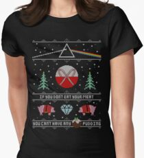 Hey Yule - Pink Christmas Fitted T-Shirt