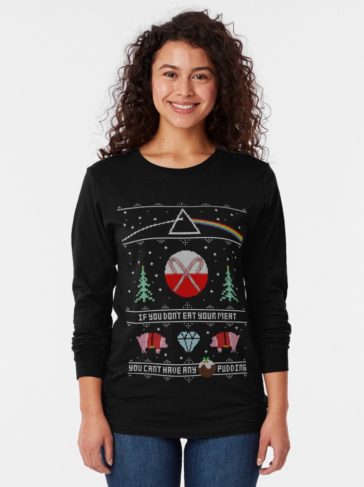 Alternate view of Hey Yule - Pink Christmas Long Sleeve T-Shirt