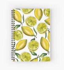 Lemons. Watercolor Spiral Notebook