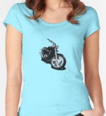 Candy Red Flamed Cruiser Women's Fitted Scoop T-Shirt