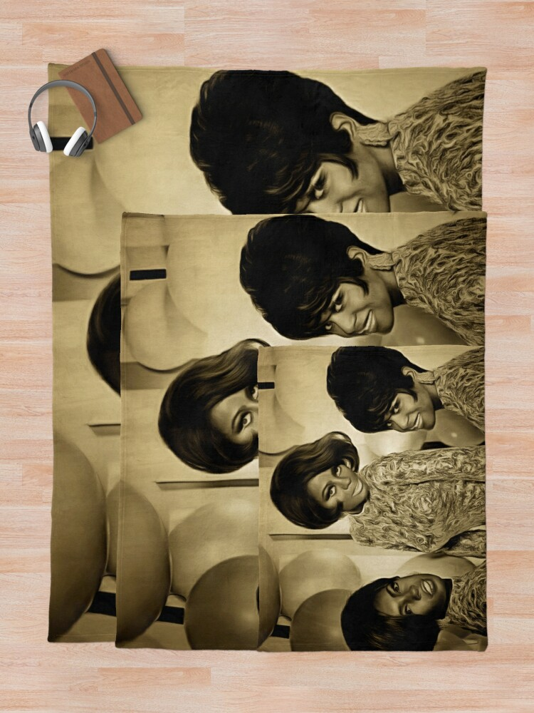 Alternate view of The Supremes in 1967 Throw Blanket