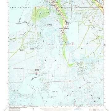 USGS TOPO Map Louisiana LA Barataria 331301 1962 62500 by wetdryvac