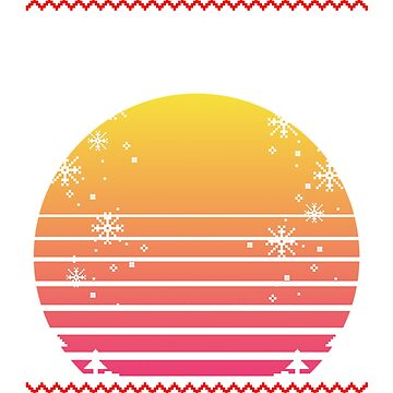 Outrun Retro Christmas Sun by mullelito