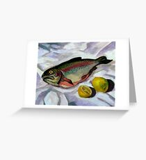 Smoked Trout and Lemons Greeting Card