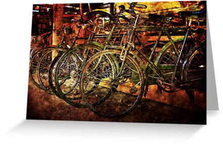 Old Bicycles by Bob Culshaw