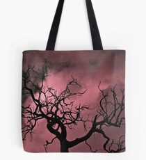 Tree in Silhouette with Texture Tote Bag