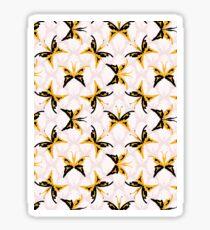 Retro 1960s Style Butterflies  Sticker