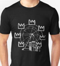 Banksy ferris wheel Basquiat tribute Slim Fit T-Shirt