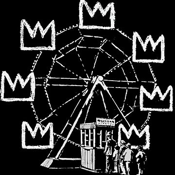 Banksy ferris wheel Basquiat tribute by furioso