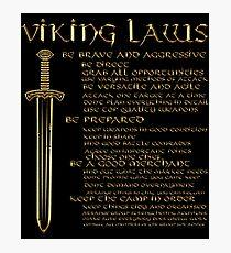 Viking Laws Sword Scandinavia Island Valhalla Fotodruck