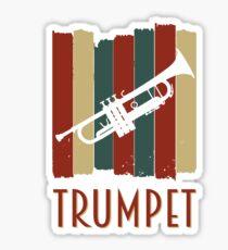 trumpet retro Sticker